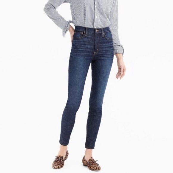 J. Crew blue 9' high-rise toothpick skinny jeans